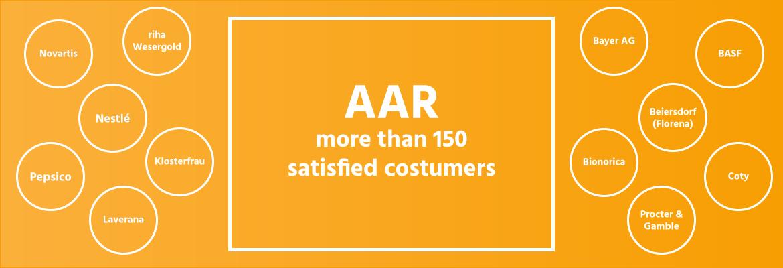 more than 150 satisfied customers of aar gmbh